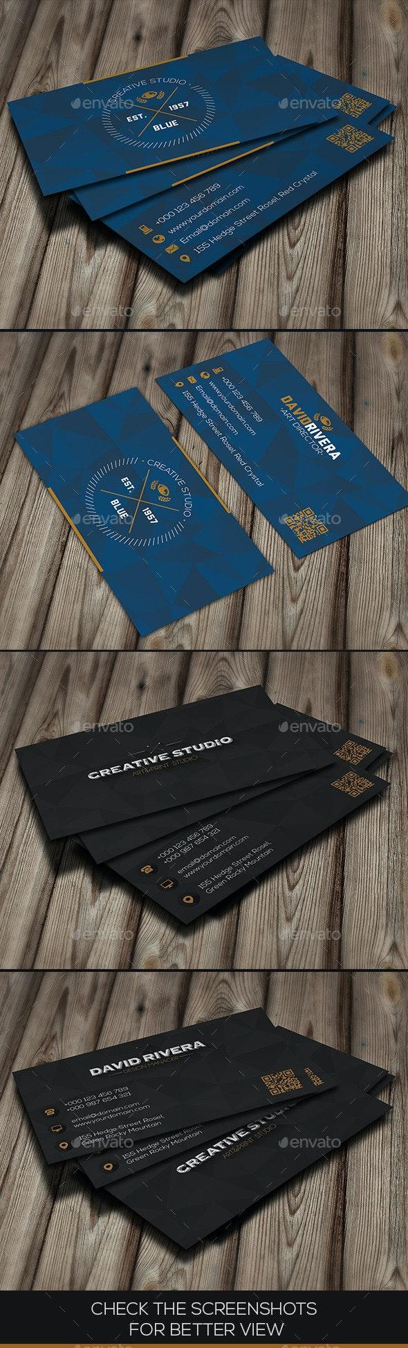 Bundle - Blue & Black Creative - Business Cards Print Templates