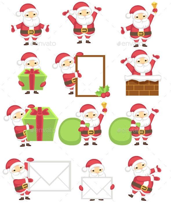 Santa Claus Character - Characters Vectors