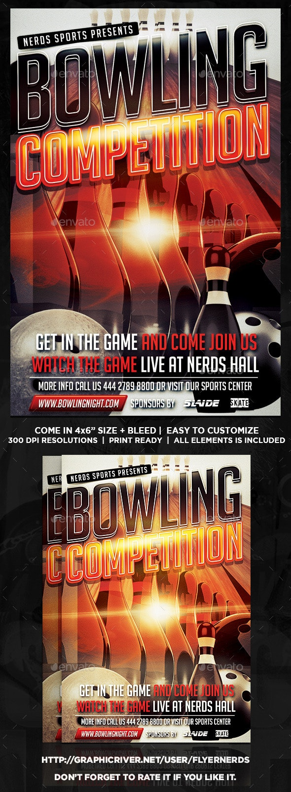 Bowling Competition Flyer - Sports Events