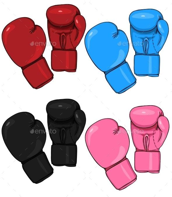 Shiv Naresh Teens Boxing Gloves 12oz: Set Of Cartoon Boxing Gloves By Nikiteev