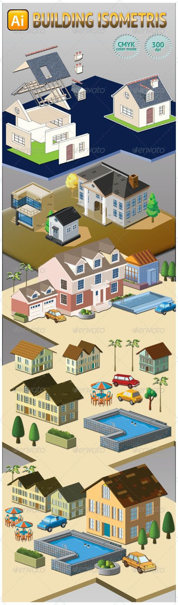 Building Isometris - Buildings Objects