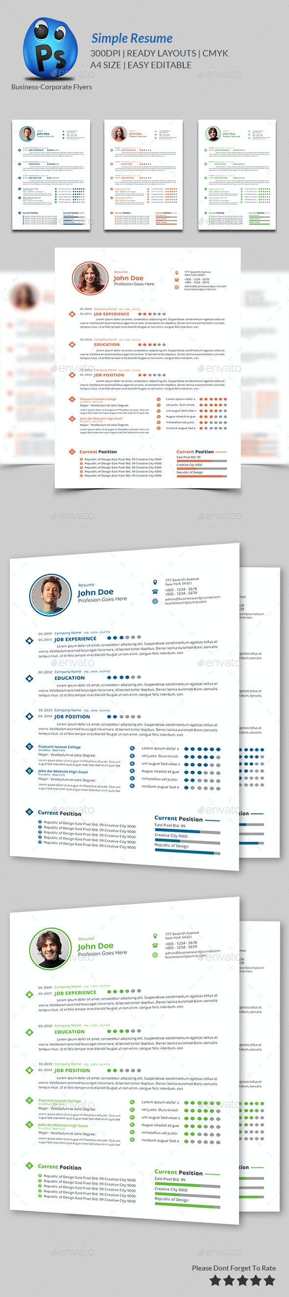 Simple Resume Print Templates - Resumes Stationery