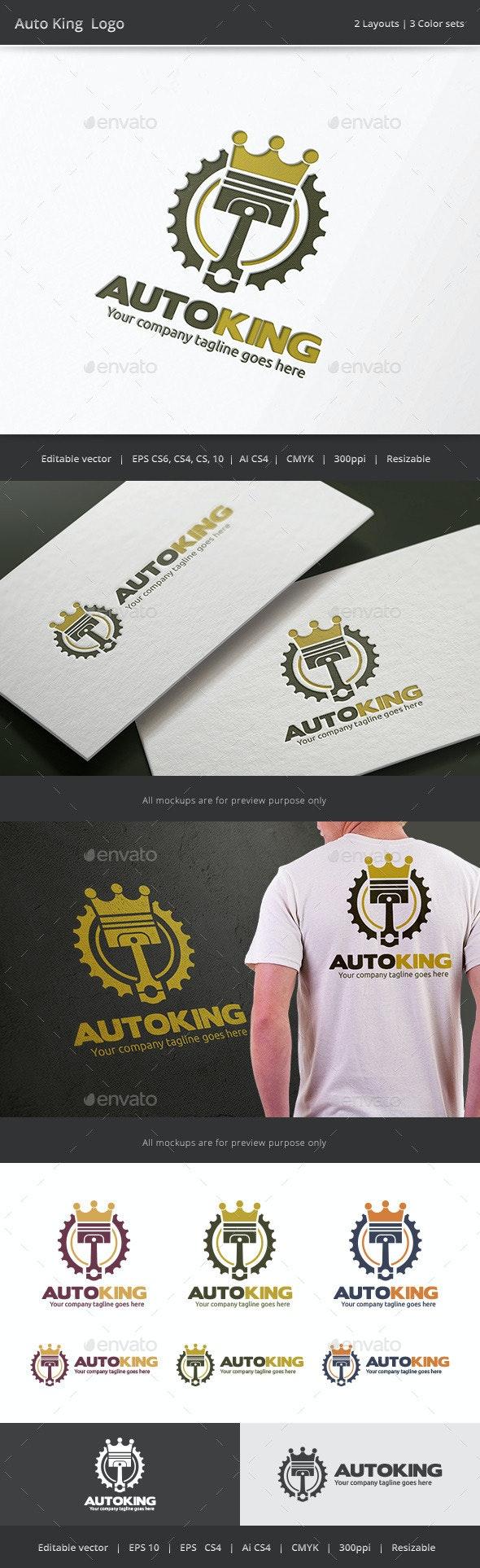 Auto King Piston Logo - Objects Logo Templates