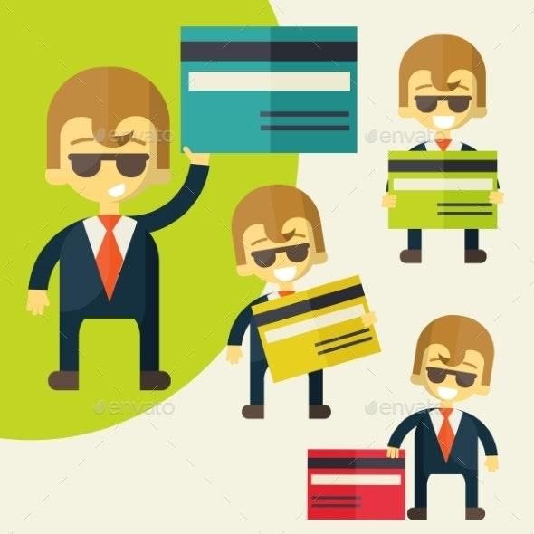Businessman Credit Card - Concepts Business
