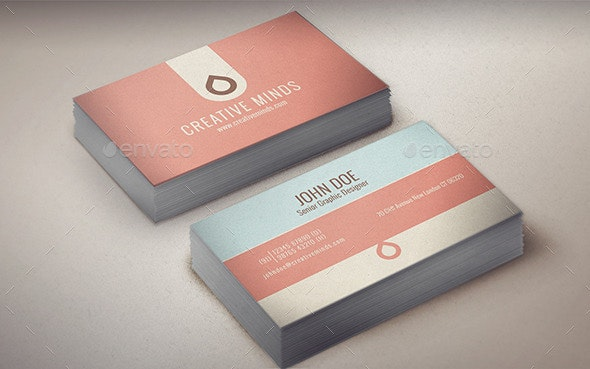 EnveLove : Minimal Business Card  - Corporate Business Cards