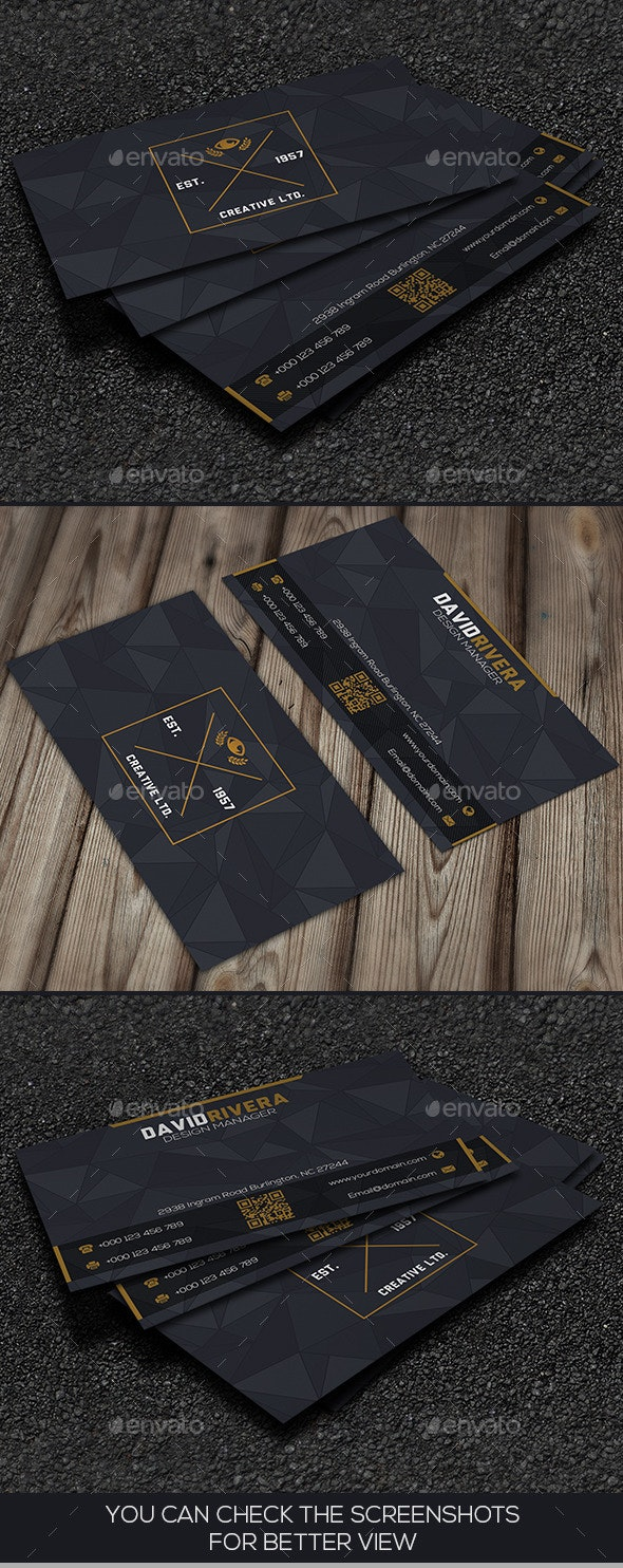 Grey Corporate Business Card - Corporate Business Cards