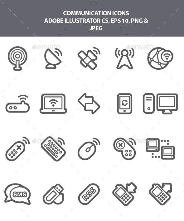 Communication Icons - Media Icons