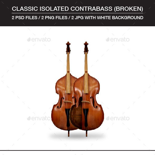 Classic Broken and Complete Isolated Contrabass