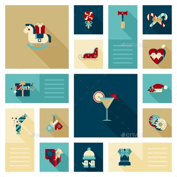 Winter Holidays Icons - Christmas Seasons/Holidays