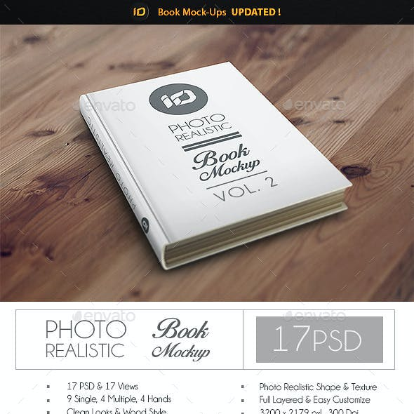 ID Book Mock-Up Photorealistic