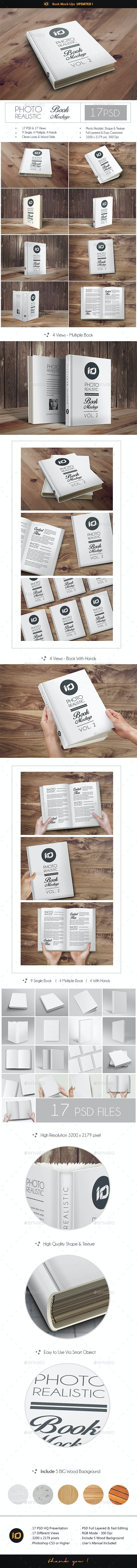 ID Book Mock-Up Photorealistic - Books Print
