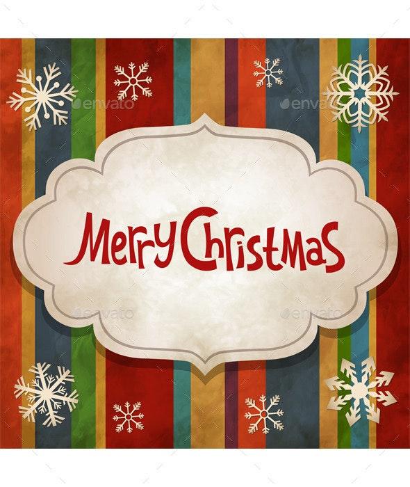 Christmas Vintage Background - Christmas Seasons/Holidays