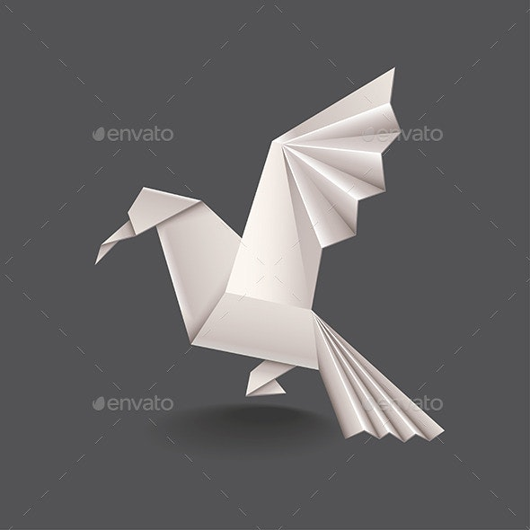 Origami Bird  - Man-made Objects Objects