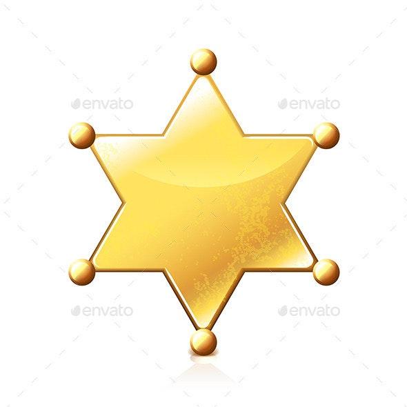 Sheriff Star  - Miscellaneous Vectors
