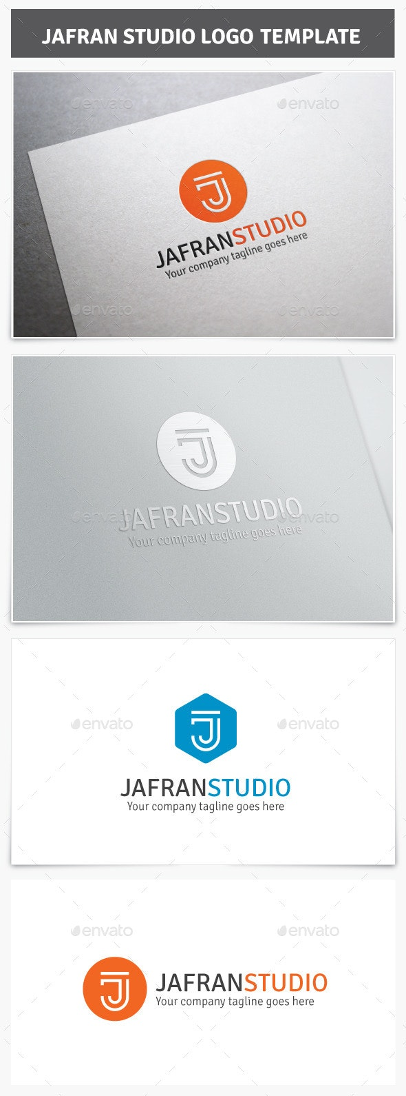 Jafran Studio Logo - Letters Logo Templates