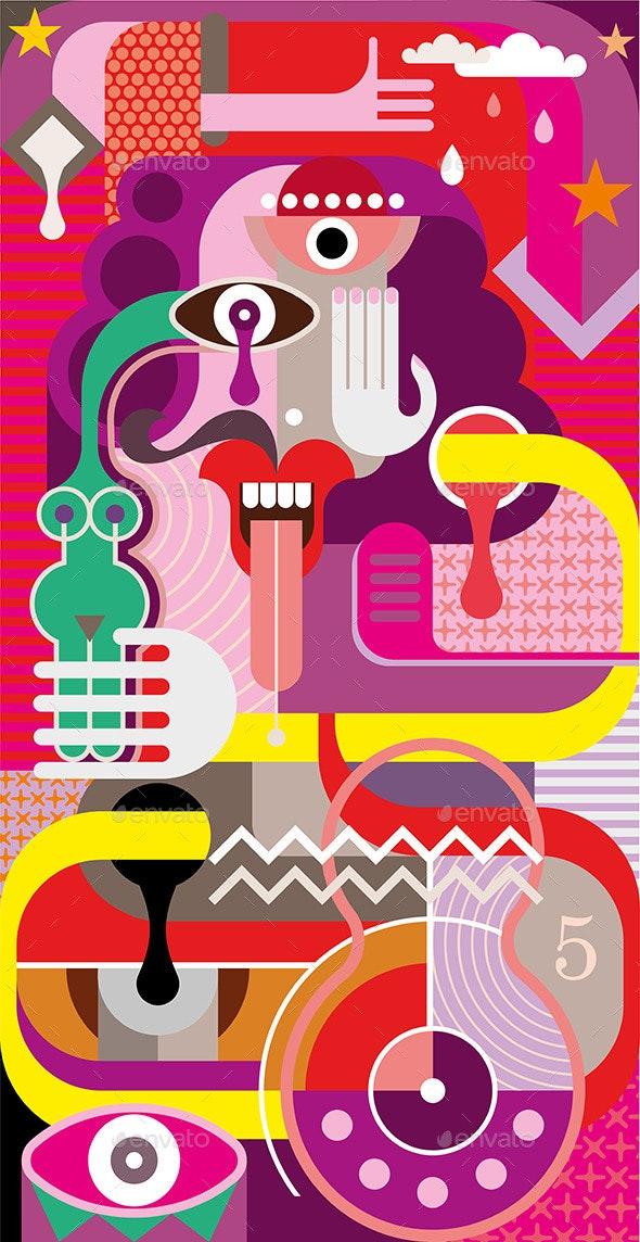 Abstract Art Portrait - People Characters