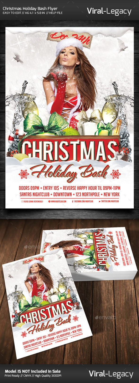 Christmas Holiday Bash Volume One - Flyers Print Templates