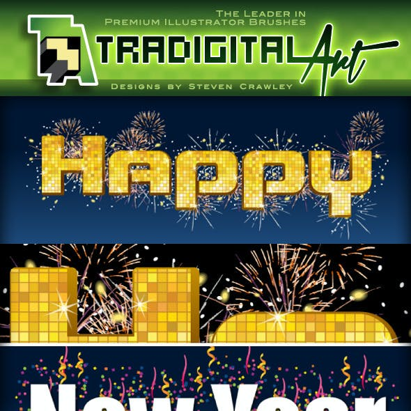 New Year's Eve Party Graphic Styles