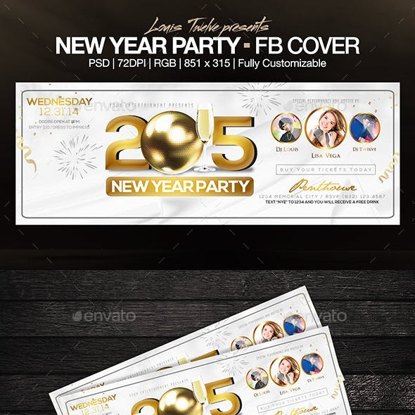 Elegant New Year Party - FB Cover