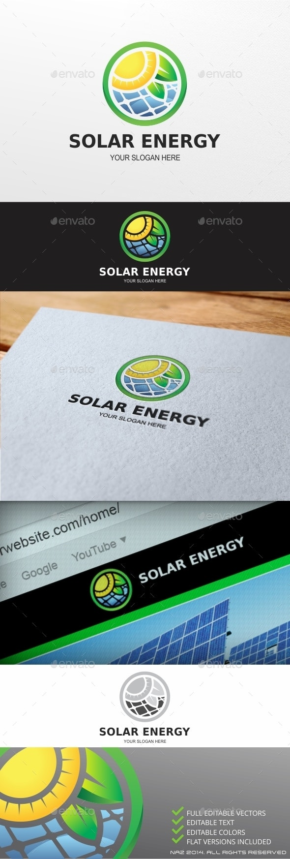 Solar Energy logo - Objects Logo Templates