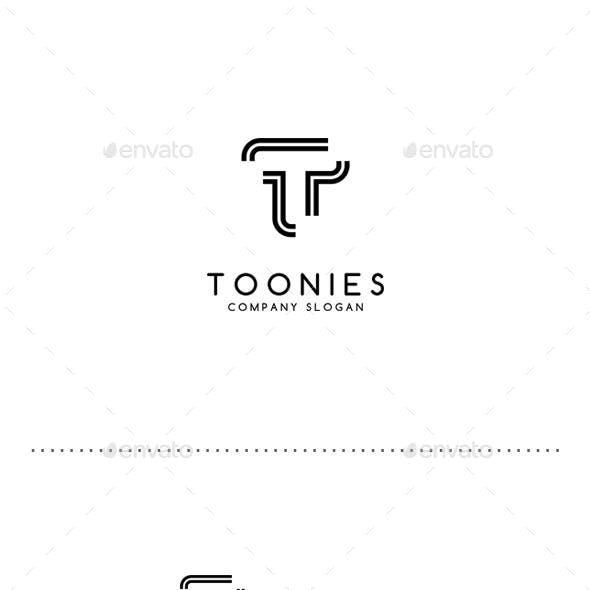 Toonies - Leter T Logo