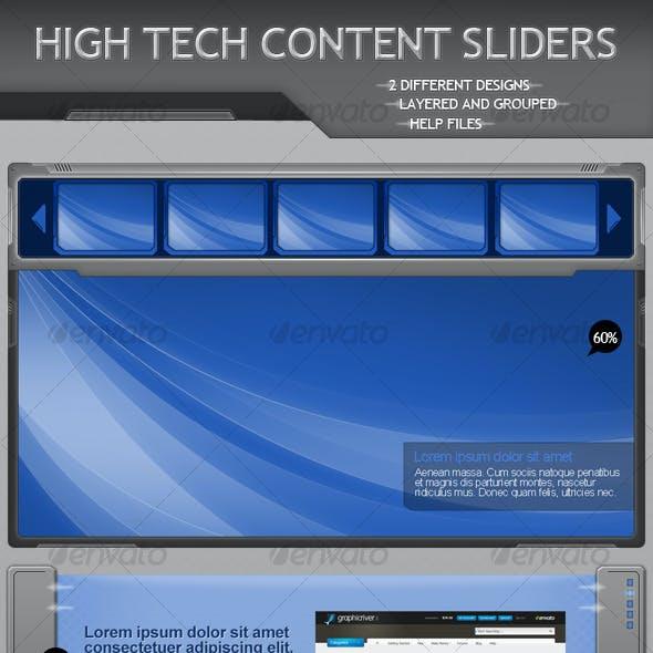 High Tech Content Sliders
