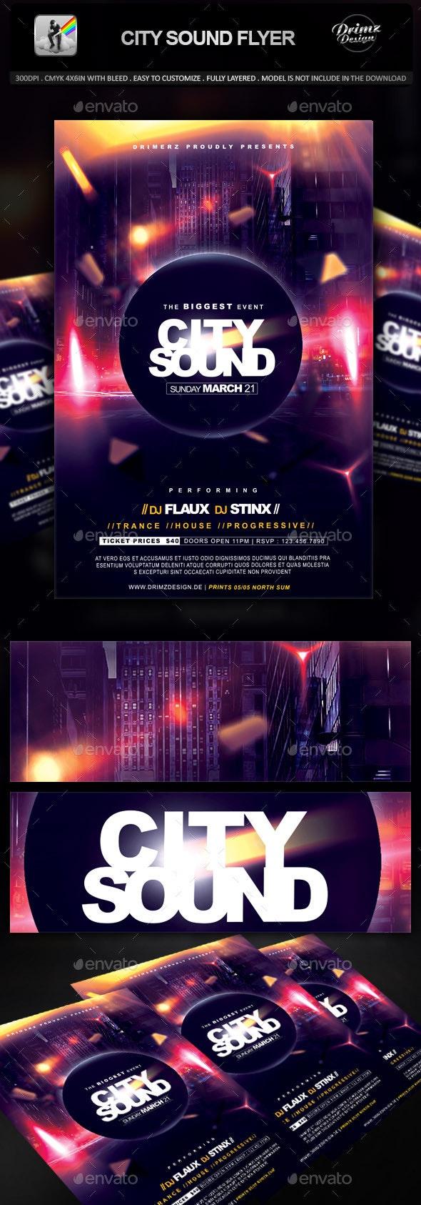 City Sound Flyer - Events Flyers