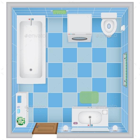 Bathroom Interior - Buildings Objects
