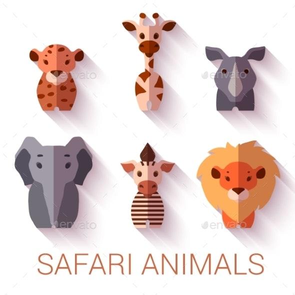 Safari Animals - Animals Characters