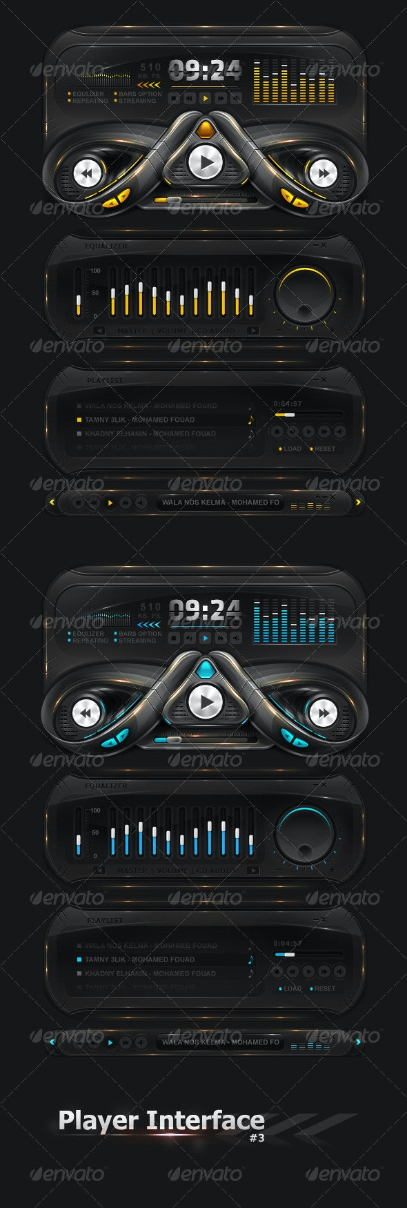 Player Interface 3 - User Interfaces Web Elements