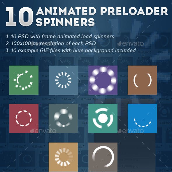 10 Animated Preloader Spinners