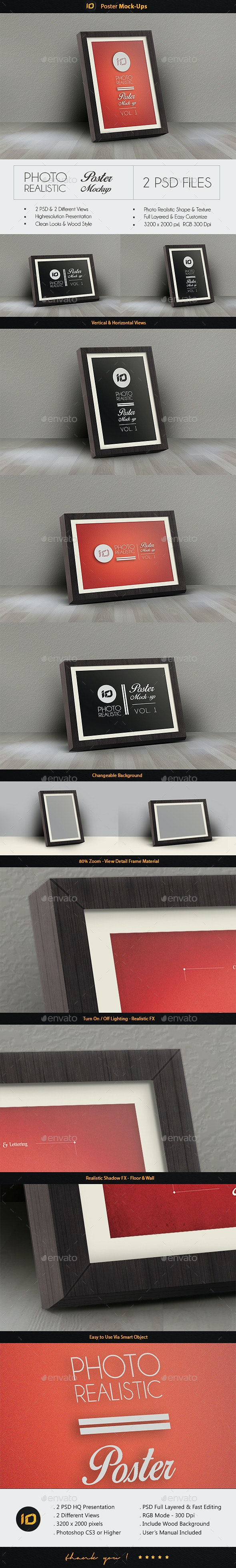 Realistic Poster Mock-Up - Posters Print