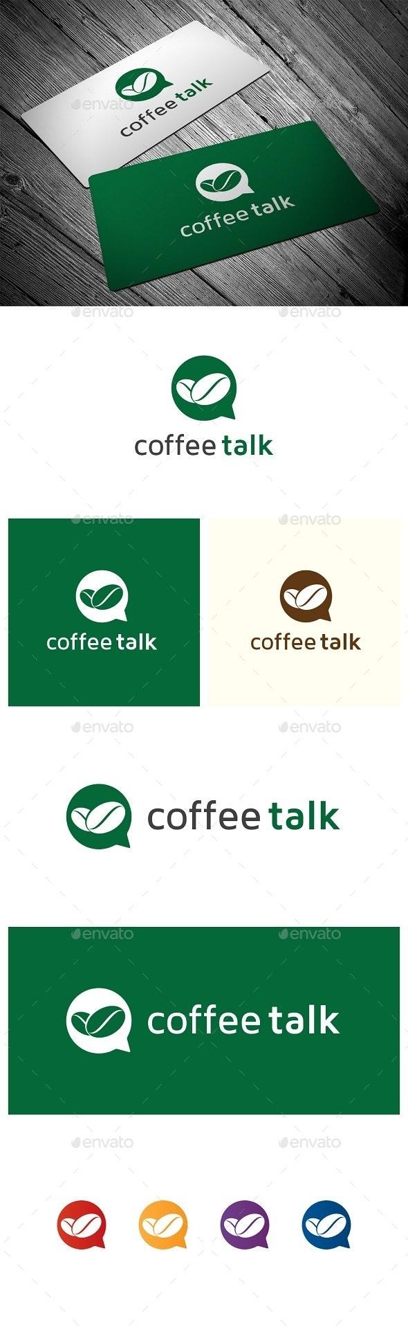 Coffee Talk - Food Logo Templates