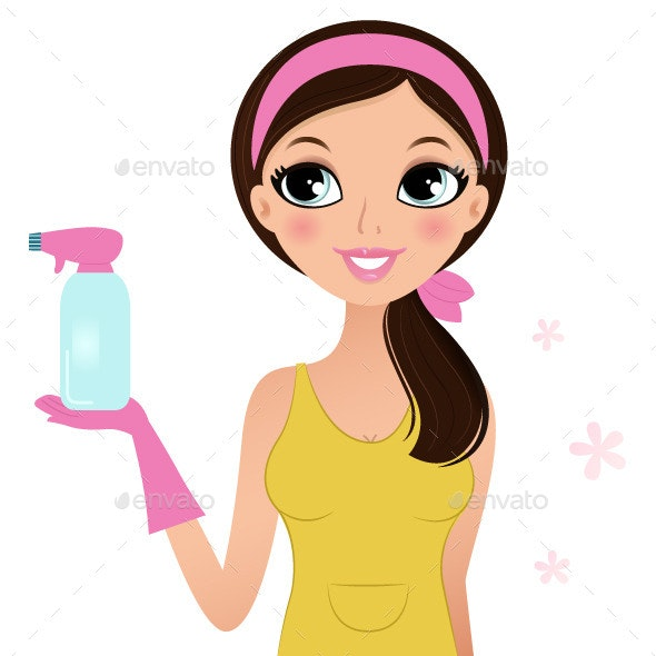 Cleaning Woman - People Characters