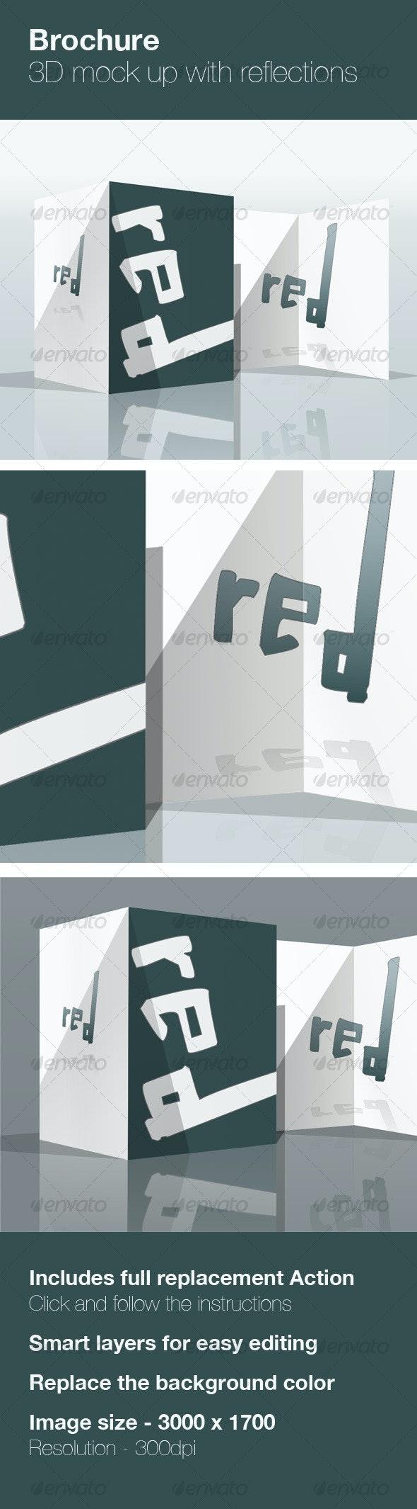 3D Brochure Mock up - Brochures Print
