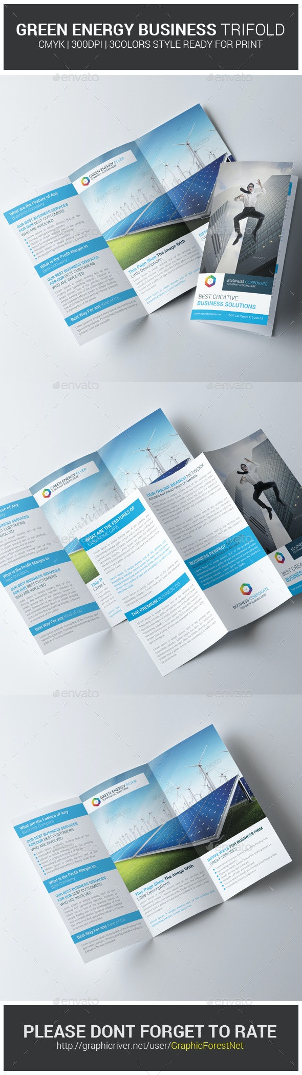 Green Energy Business Trifold Brochures - Corporate Brochures