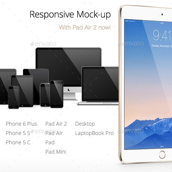 Responsive Screen Mock-Ups