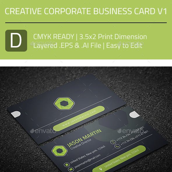 Creative Corporate Business Card V1