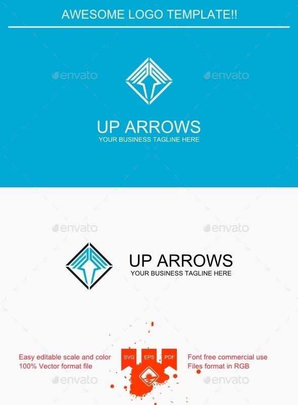 Up Arrows Logo - Symbols Logo Templates