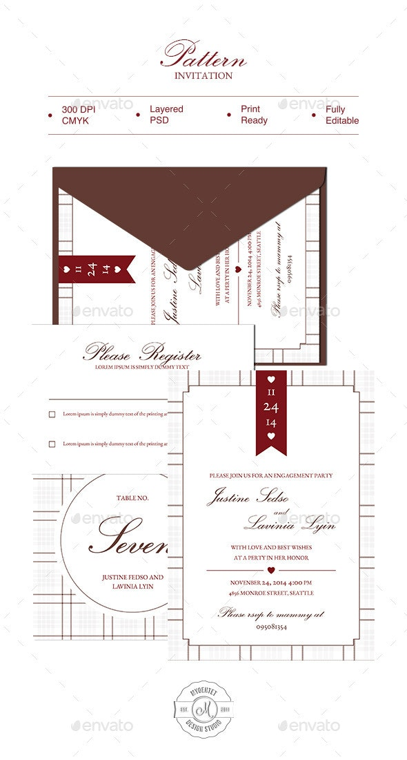 Pattern Invitation - Weddings Cards & Invites