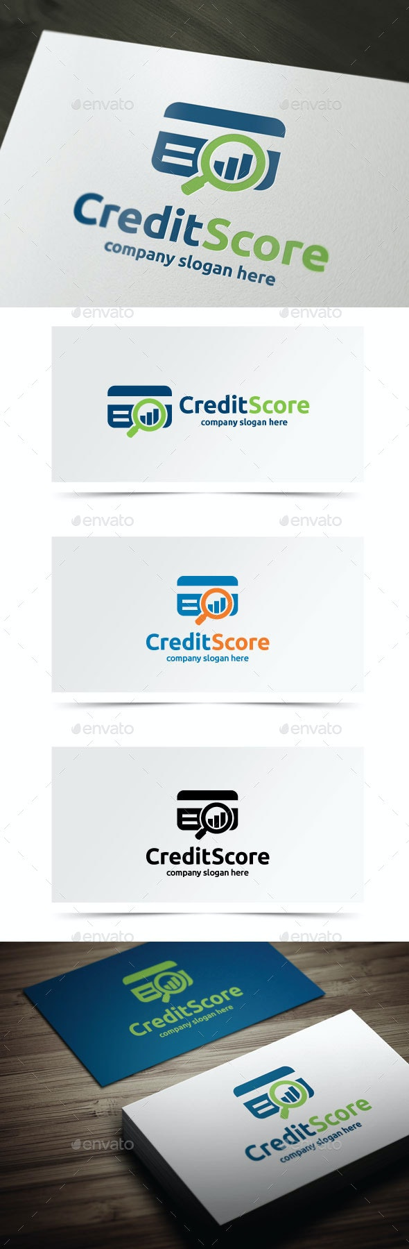 Credit Score - Objects Logo Templates