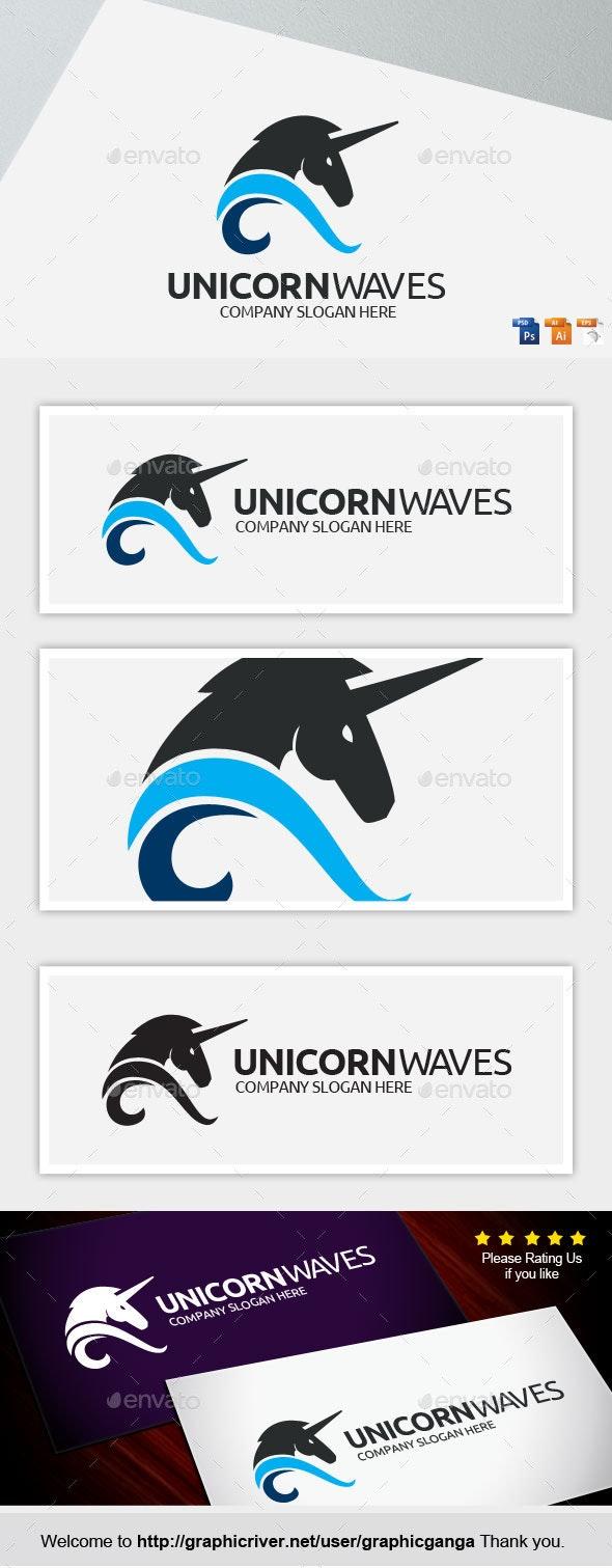 Unicorn Waves - Animals Logo Templates