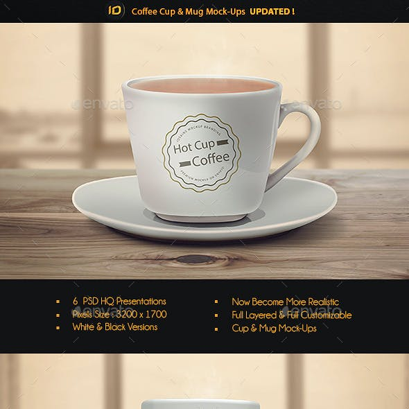 Realistic Cup & Mug Mock-Up