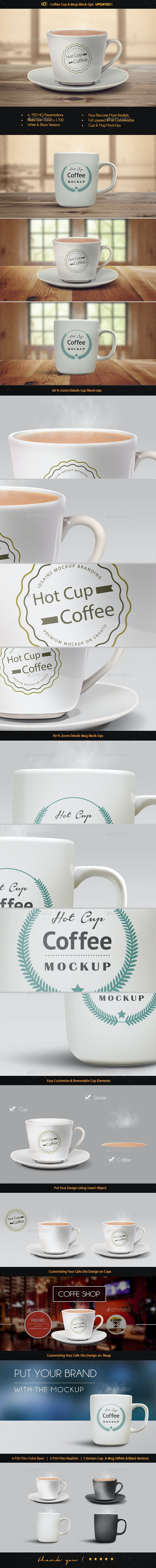 Realistic Cup & Mug Mock-Up - Food and Drink Packaging