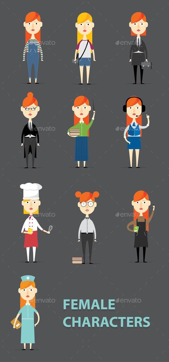 Female Characters - Characters Vectors