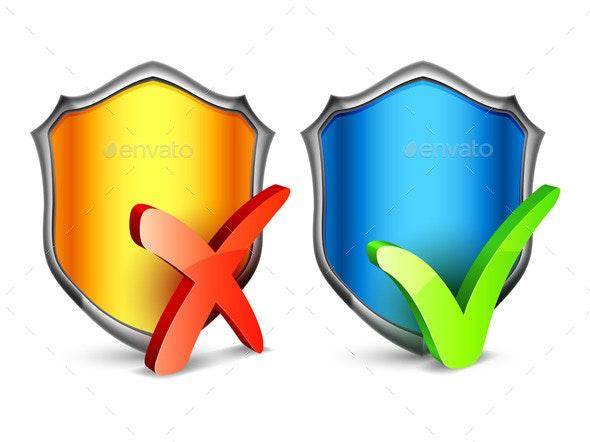Security Shields - Conceptual Vectors