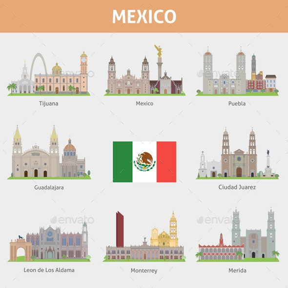 Cities in Mexico - Buildings Objects