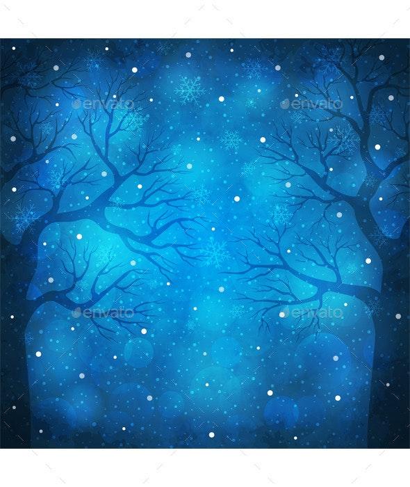 Winter Snowfall - Christmas Seasons/Holidays