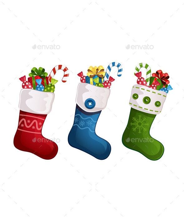 Christmas Stockings - Christmas Seasons/Holidays