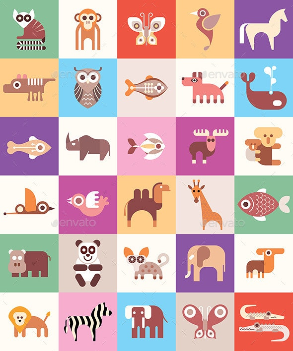 Animals, Fishes and Birds - Animals Characters